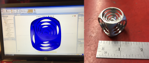 metal cube made with bobcad cnc software